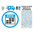 2016 Calendar Grid Icon with 1000 Medical Business vector image vector image