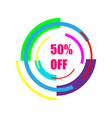 50 off sale new technology of the future icon 50 vector image