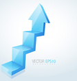 abstract 3d arrow design vector image vector image