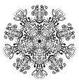 abstract mandala circular monochrome pattern vector image vector image