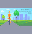 active lifestyle colorful card vector image vector image