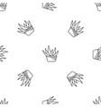aloe vera pot pattern seamless vector image vector image