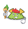 artist guacamole character cartoon style vector image vector image