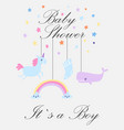 baby boy shower card its vector image vector image