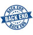 back end round grunge ribbon stamp vector image vector image