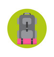 backpack icon hiking bag travel baggage vector image