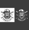 baseball club mascot label vector image
