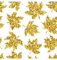 beautiful seamless pattern golden maple leaves on vector image
