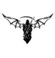 black grim reaper with big bat wings vector image vector image