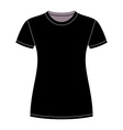Black t-shirt design template vector image vector image