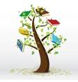 Book Tree vector image