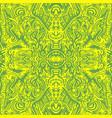 bright sunny psychedelic trippy abstract mandala vector image vector image