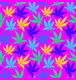 cannabis leaves bright multicolored seamless vector image vector image