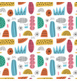 cartoon abstract seamless pattern hand drawn vector image