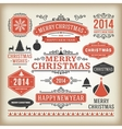 Christmas decoration design elements collec