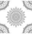 Circle mandala floral pattern vector image vector image