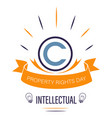 copyright sign isolated icon intellectual vector image vector image