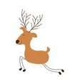 deer cartoon icon image vector image