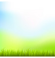 detailed fresh green grass natural background vector image