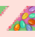 easter greeting card template with colorful vector image vector image