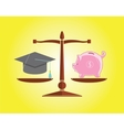 education and money vector image