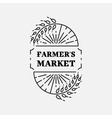 Farmer s Market logo line art icon Wheat field vector image vector image