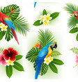 flower pattern is smooth and parrot vector image vector image