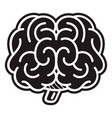 front brain icon simple style vector image
