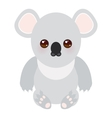 Funny cute koala on white background vector image