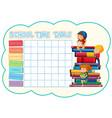 gf ii backtoschool timetable 02 vector image