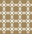 gold and white geometric seamless pattern vector image