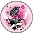 Gramophone with wings vector | Price: 1 Credit (USD $1)