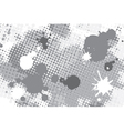 halftone spot grunge background vector image