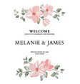 hand-drawn card with flower rose leaves wedding vector image vector image