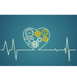 heart symbol consists of the gears vector image vector image