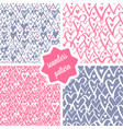 hearts seamless patterns set vector image vector image