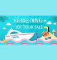 hot vacation design template summer travel enjoy vector image vector image