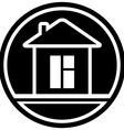 icon with home and window silhouette vector image vector image