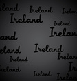 Ireland pattern vector image vector image