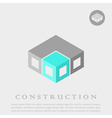 Isometric cube construction vector image vector image