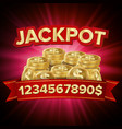 jackpot casino background for luck money vector image