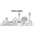 jordan amman line skyline vector image vector image