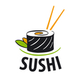 logo Japanese food sushi vector image