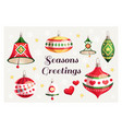 merry christmas and happy new year card with seaso vector image vector image
