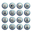 mobile connection icon set vector image vector image