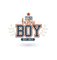New Baby Boy vector image