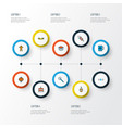 new icons colored line set with open box ginger vector image vector image