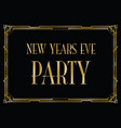new years eve party background vector image
