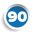 Number ninety icon vector image vector image