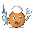 nurse cookies character cartoon style vector image